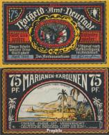 Neustadt Notgeld: 961.2 F) Bild 4 Marianem Statt Marianen Fehldruck Bankfrisch 1922 75 Pfennig Neustadt Amt - Austria
