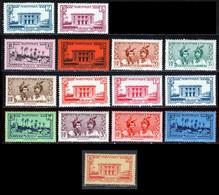 Martinique 1933 Yvert 134-136/139-141A-142-144-148A-149/154 ** TB - Ungebraucht