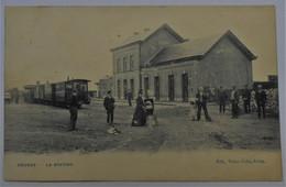 CPA Bourcy, Bastogne La Station - Tram En Gare - Bastenaken
