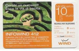Ricarica WIND INFOWIND 412, Taglio 10,00 Euro, Scadenza 31-12-2006, PUBLICENTER, Usata - [2] Sim Cards, Prepaid & Refills