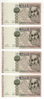 Italia - Lotto Di 4 Banconote Da Lire 1000 Marco Polo - Consecutive - FDS - Vedi Foto - (FDC31961) - 1000 Lire