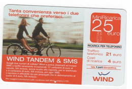 Ricarica WIND TANDEM & SMS, Taglio 25,00 Euro, Scadenza 30/06/2007, Usata - [2] Sim Cards, Prepaid & Refills
