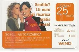 Ricarica WIND SCEGLI AUTORICARICA, Taglio 25,00 Euro, Scadenza 30/06/2008, Usata - [2] Sim Cards, Prepaid & Refills