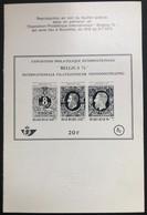 België, 1971, ZNP 3, OBP 4€ - Blocks & Kleinbögen Schwarz