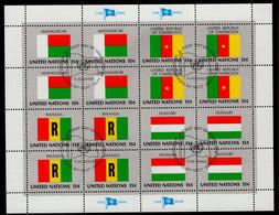 UNO NY KB 348 - 363 Flaggen Mitgliedsstaaten Used Gestempelt - Gebraucht