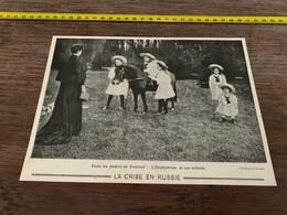 1906 PATI Crise En Russie Dans Les Jardins De Peterhof L Impératrice Et Ses Enfants - Non Classés