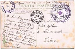 CHALON SUR SAONE _ Franchise _Société Française De Secours Aux Blessés Militaires _ Infirmerie De Gare _violet _1916. - Cartas