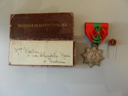 MEDAILLE ARGENT MINISTERE DE LA SANTE PUBLIQUE Mme MARTIN NEE COLARDELLE MARIE VERDUN Famille Française - Non Classés