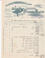 Mons , Etienne Marin , 3 , Rue Des Orphelins ( 1908 ) - Printing & Stationeries