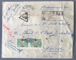 Palestine, Enveloppe De JERUSALEM 20.11.1916 (affranchie Avec Turquie N°267 (x6) Pour Genève - (B2120) - Palestina