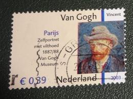 Nederland - NVPH - 2145 - 2003 - Gebruikt - Cancelled - Vincent Van Gogh - Zelfportret - Met Tab - Used Stamps