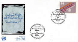 United Nation 1981 Fdc Inalienable Rights Of The Palestanian People - Lettres & Documents