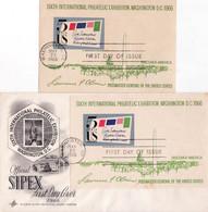 United States 1966 Fdc Sixth International Philatelic Exhibition - Lettres & Documents
