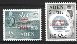 Aden  1959  SG 74-5  Revised Constitution  Mounted Mint - Aden (1854-1963)