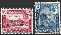Aden  Seiyun   1946   SG  12-3   Victory    Fine Used - Aden (1854-1963)