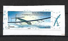 France 2021. Solar Impulse Y Et T 5499. Oblitéré Sur Fragment. - 2010-.. Matasellados