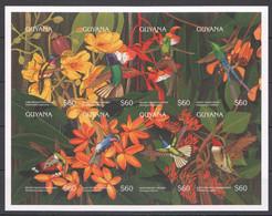 Z1314 IMPERFORATE GUYANA FLORA & FAUNA BIRDS HUMMINGBIRDS 1KB MNH - Kolibries