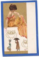RAPHAEL KIRCHNER - Femme Assise Jouant Avec Des Ficelles, Homme Parapluie Suit Femme - Kirchner, Raphael