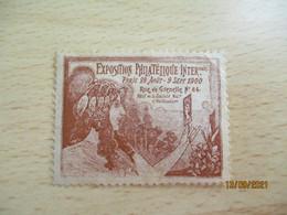 Art Nouveau Exposition Philatelique 1900 Rue De Grenelle Erinnophilie Vignette Timbre - Filatelistische Tentoonstellingen