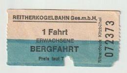 Carte D'entrée-toegangskaart-ticket: Reitherkogelbahn Reith Im Alpbachtal (A) - Biglietti D'ingresso