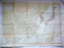 Belle Carte Blondel Recto Verso Asie Et Chine & Japon 70 X 97 Cm - Mapas Geográficas