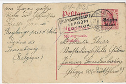 10 Cent-postkarte - Afstempeling AREL Verstuurd Naar Guben (D) - [OC1/25] General Gov.