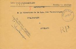 Franchise Militaire Pepingen 21.1.39 – RP – Gemachtigde On-derofficier – Libération Des Mineurs - Cartas