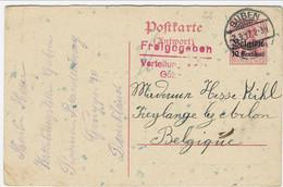 10 Centimes-postkarte (antwort) - Afstempeling GUBEN Verstuurd Naar Feylange Lez Arlon - [OC1/25] General Gov.