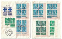 LOT De 2 LETTRES De 1961 AFFRANCHIES Avec COINS DATÉS Du TYPE MERCURE Dont 1 AVEC ANNULATION LINÉAIRE De ROYAN PRINCIPAL - 1961-....