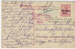 10 Cent-postkarte ( Mit Antwort) - Enkele Kaart Zonder Het Antwoord  Met Belgische En Duitse Censuur - [OC1/25] General Gov.