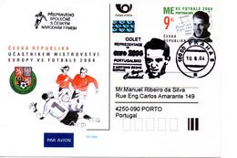 Czech Republic (04-13) Czech Team To European Championship Socccer 2004 Flight - Postcard - Fußball-Europameisterschaft (UEFA)