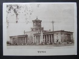 AK PYONGYANG Station Bahnhof Ca.1950 //// D*51163 - Korea, North