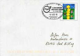 12844) BRD - ✉ USo 19 Codiert Mit So-⨀ 45131 Essn 119 Vom 04.04.2002 - 14. Internationale Briefmarkenmesse - Umschläge - Gebraucht