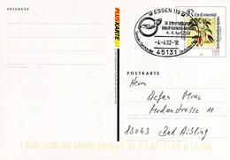 12845) BRD - ✉ PSo 77 I Codiert Mit So-⨀ 45131 Essen 119 Vom 04.04.2002 - 14. Internationale Briefmarkenmesse - Cartoline - Usati