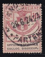 Regno D'Italia Parastatali Ufficio Nazionale Disoccup. 1924 10 C. Rosa Sass. 63 Usato Cv 60 - Oblitérés