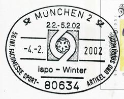 12846) BRD - ✉ PSo 77 I Codiert Mit So-⨀ 80634 München 2 Vom 04.02.2002 - Ispo - Wintermesse Sportartikel Sportmode - Cartoline - Usati