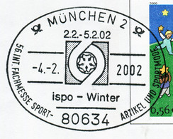 12847) BRD - ✉ USo 20 I Codiert Mit So-⨀ 80634 München 2 Vom 04.02.2002 - Ispo - Wintermesse Sportartikel Sportmode - Umschläge - Gebraucht