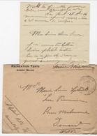 Brief Met Hoofding RECREATION TENTS ARMEE BELGE Verstuurd Via Legerposterij Zonder Nr. Naar Dinard (met Inhoud) - Army: Belgium
