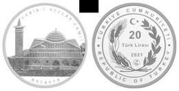 AC -  HABIB - I NECCAR MOSQUE ANTAKYA MOSQUE SERIES #1 COMMEMORATIVE SILVER COIN TURKEY, 2021 PROOF UNCIRCULATED - Turkey