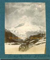 Chamonix * Col Des Montets, Voiture Lion-Peugeot Double Phaéton * Photo Originale Vers 1908 - Cars