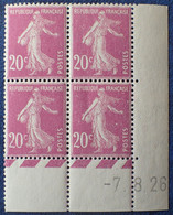 R1300/83 - 1926 - TYPE SEMEUSE CAMEE - N°190 BLOC NEUF** - ....-1929