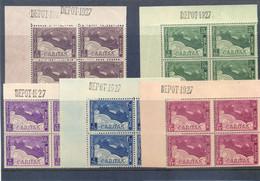 249/253 Postgaaf ** In Blok Van 4 PRACHTIG MNH 64 Côte Met DEPOT 1927 - Nuovi