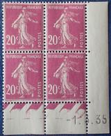 R1300/84 - 1935 - TYPE SEMEUSE CAMEE - N°190 BLOC NEUF** - ....-1929