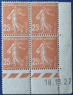 R1300/86 - 1927 - TYPE SEMEUSE CAMEE - N°235 BLOC NEUF**(2t)/*(2t) - ....-1929