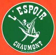 Autocollant L'espoir - Club De Gymnastique à Chaumont - Stickers
