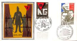 [910774]TB//-Belgique 1975 - N° 1768, 4900 ANGLEUR - 25 BESANCON, Belgique - France, FDC Soie, Libération Des Camps - 1971-80