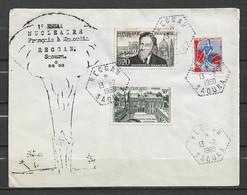 ALGERIE FRANCE Cachet Du 1er Essai Nucléaire Français à Reggan ( Saoura ) Le 13 2 1960 Sur Lettre - Lettres & Documents