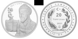 AC -  AVICENNA IBN SINA MUSLIMSCIENTISTS SERIES #1 COMMEMORATIVE SILVER COIN TURKEY, 2021 PROOF UNCIRCULATED - Turkey
