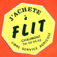 Autocollant J'achete à Flit Libre Service Agricole à Chaumont - Stickers