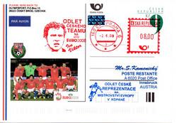 Czech Republic (08-09) Czech Team To European Championship Socccer EURO 2004 Flight - Postcard - Fußball-Europameisterschaft (UEFA)